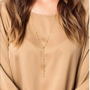 GORJANA CHLOE MINI DISC GOLD LARIAT CHOKE NECKLACE